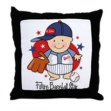 Future Baseball Star Throw Pillow