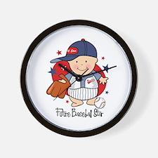 Future Baseball Star Wall Clock