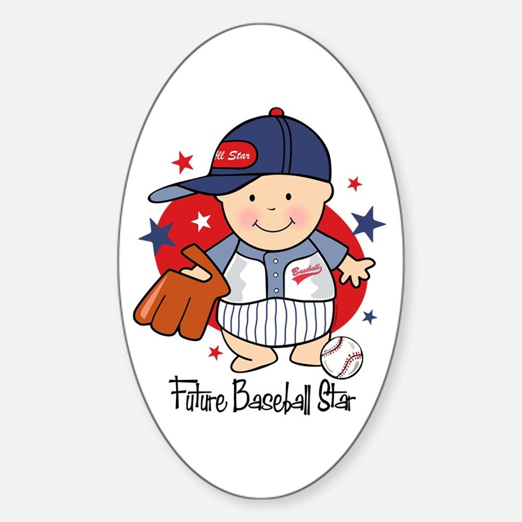 Future Baseball Star Oval Decal