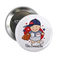 "Future Baseball Star 2.25"" Button"