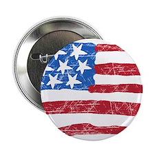"""Grungy Flag 2.25"""" Button"""