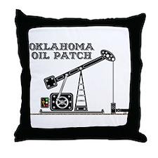 Oklahoma Oil Patch Throw Pillow