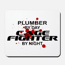 Plumber Cage Fighter by Night Mousepad