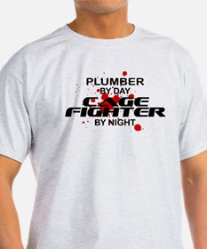 Plumber Cage Fighter by Night T-Shirt