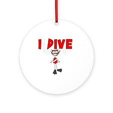 I Dive Ornament (Round)