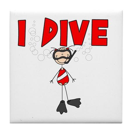 I Dive Tile Coaster