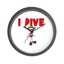 I Dive Wall Clock