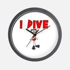 I Dive Wall Clock