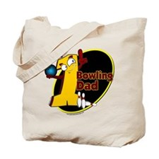 Yellow number 1 bowling dad Tote Bag