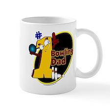 Yellow number 1 bowling dad Mug