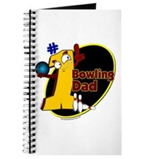 Yellow number 1 bowling dad Journal