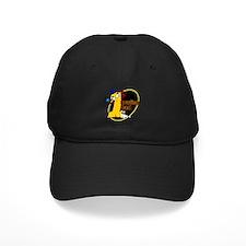 Yellow number 1 bowling dad Baseball Hat