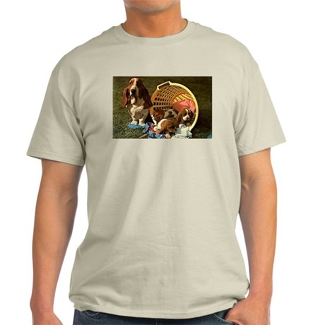 Basset Hound & Puppies Light T-Shirt