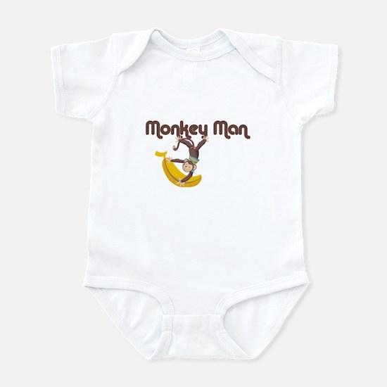 Monkey Man Baby Infant Bodysuit