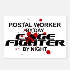 Postal Wrker Cage Fighter by Night Postcards (Pack