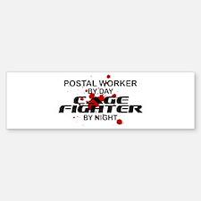 Postal Wrker Cage Fighter by Night Bumper Bumper Sticker
