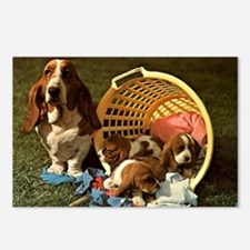 Basset Hound & Puppies Postcards (Package of 8)