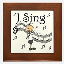 I Sing (FEMALE) Framed Tile