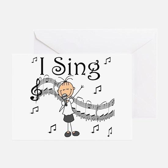 I Sing (FEMALE) Greeting Card