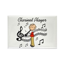 Clarinet Player Rectangle Magnet