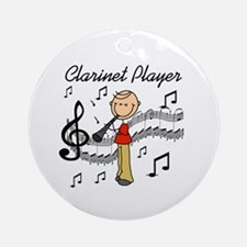 Clarinet Player Ornament (Round)