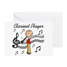 Clarinet Player Greeting Card