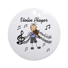 Violin Player Ornament (Round)