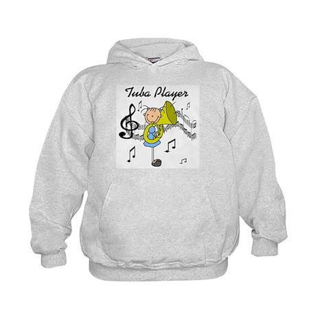 Tuba Player Kids Hoodie
