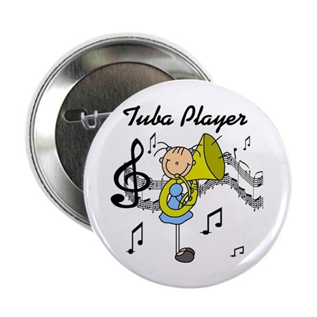 "Tuba Player 2.25"" Button (100 pack)"