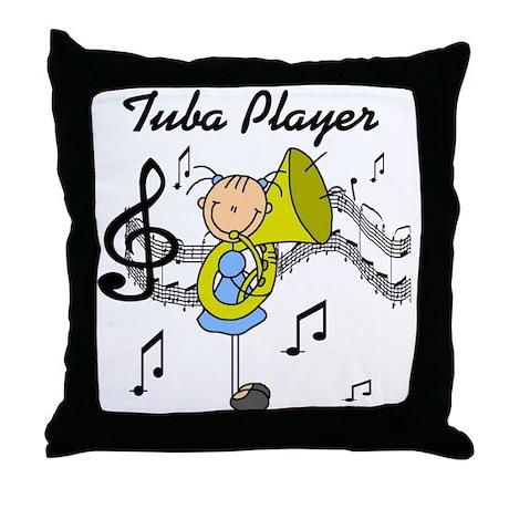 Tuba Player Throw Pillow