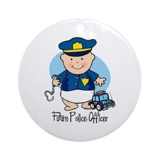 Future Police Officer Ornament (Round)