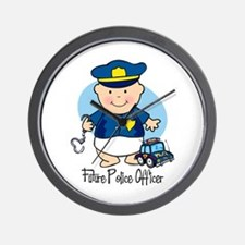 Future Police Officer Wall Clock