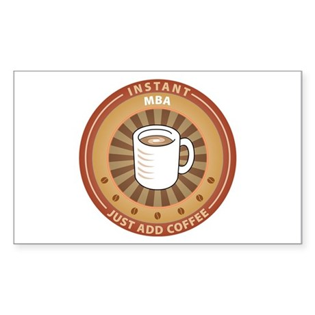 Instant MBA Rectangle Sticker