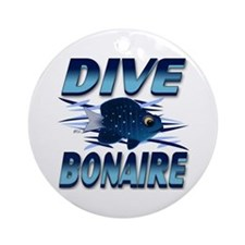 Dive Bonaire (blue) Keepsake (Round)