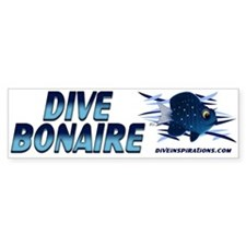 Dive Bonaire (blue) Bumper Bumper Sticker