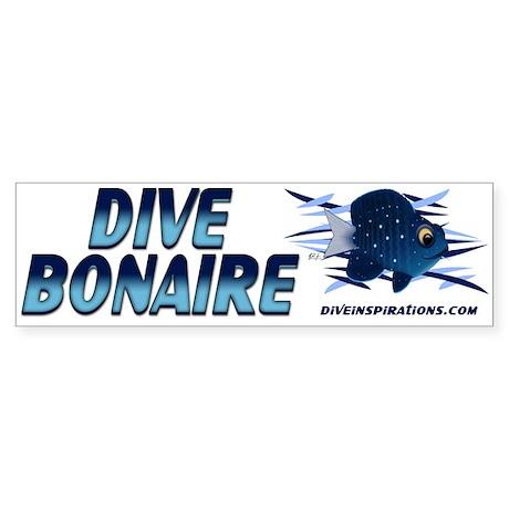 Dive Bonaire (blue) Bumper Sticker