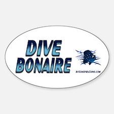 Dive Bonaire (blue) Oval Decal