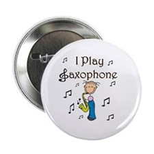 I Play Saxophone Button