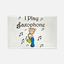 I Play Saxophone Rectangle Magnet