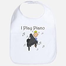I Play Piano Bib