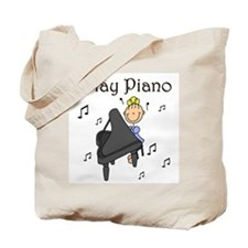 I Play Piano Tote Bag