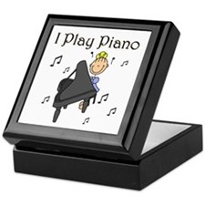 I Play Piano Keepsake Box