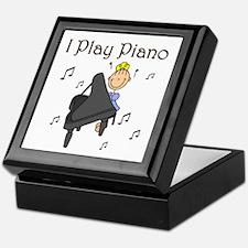 I Play Piano Keepsake Box