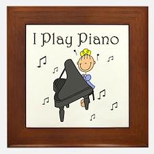 I Play Piano Framed Tile