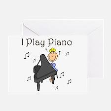 I Play Piano Greeting Card