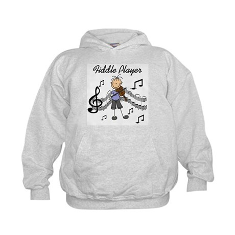 Fiddle Player Kids Hoodie