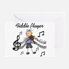 Fiddle Player Greeting Card