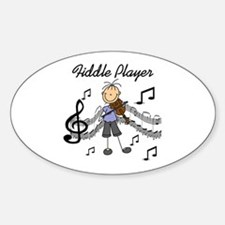 Fiddle Player Oval Decal