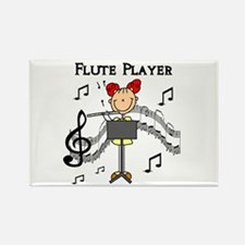 Flute Player Rectangle Magnet (10 pack)