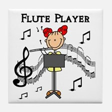 Flute Player Tile Coaster